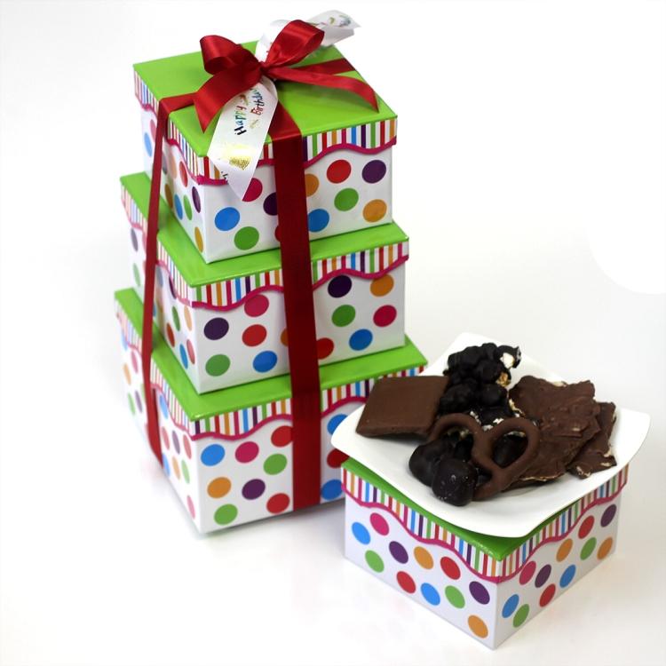 Happy Birthday Gift Tower By Gourmetgiftbaskets Com: Happy Birthday Large Tower
