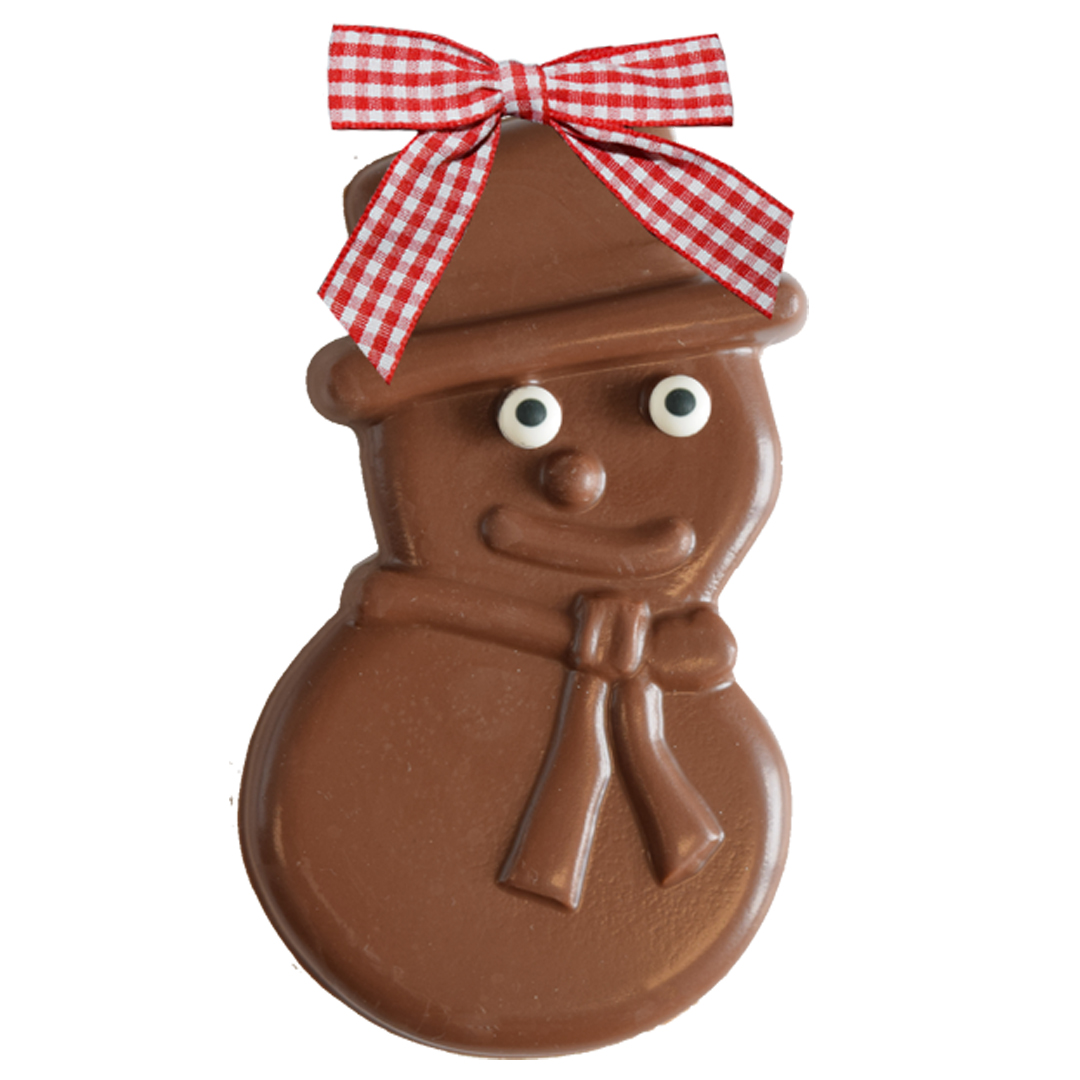 Solid Chocolate Snowman