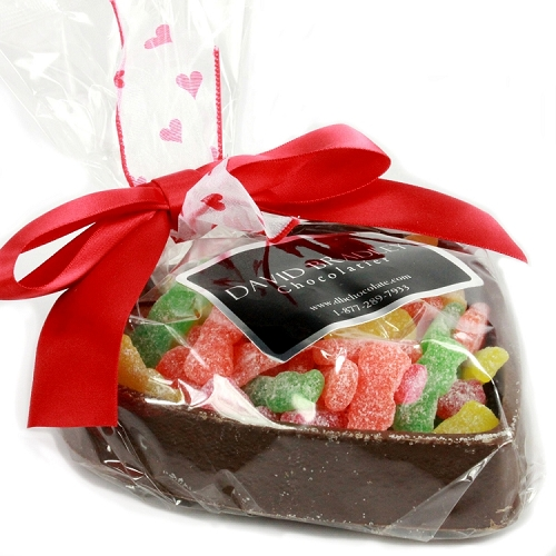 Edible Chocolate Heart with Sour Patch Kids