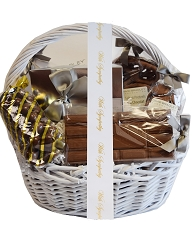 Classic Basket with Sympathy Ribbon