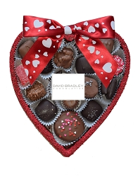 Edible Chocolate Heart with assorted chocolate