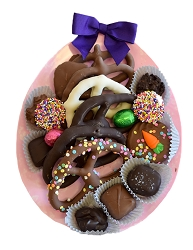 Easter Egg Dish with Assorted Chocolate