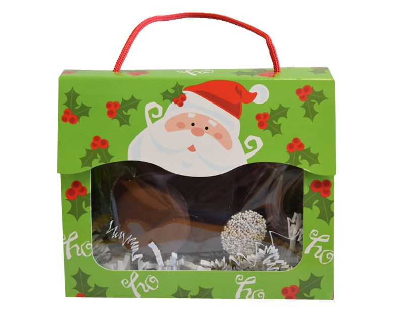 Jolly Santa Tote with Mini Mini Nibbler