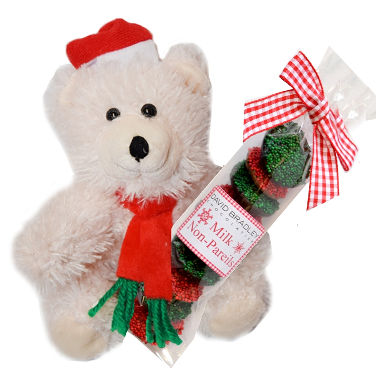 10 Piece Non-pareils with Santa Bear