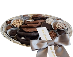 Silver Party Tray With Sympathy Ribbon
