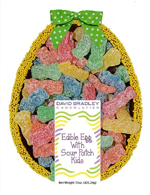 Edible Easter Egg With Sour Patch Kids